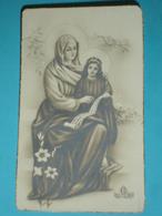 FB 660 - S.ta ANNA Madre Di MARIA Bambina/dedica A Mano Anno 1945 - Santino Monocromo F.lli Bonella - Santini