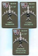 P273 LOT DE 3 PATCHS AIR AVIATION BOEING AWACS 36° ESCADRE DE DETECTION AEROPORTEE E.3F AVORD - Ecussons Tissu