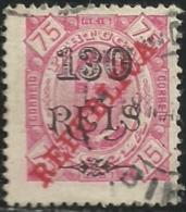 Angola 1915 Provisional Issue 1902 Overprinted REPUBLICA In Carmine A3 King Carlos Canc - Celebrità