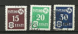 Estland Estonia 1941 Dt. Okkupation Dorpat Tartu Michel 1 - 3 X (thick Paper) O - Besetzungen 1938-45