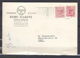 Kaart Van Brugge Naar Lier - Postcards [1951-..]