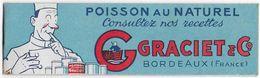 33 - BORDEAUX - CONSERVES ALIMENTAIRES - GRACIET  -  Petit Livret Avec Recettes - Reclame