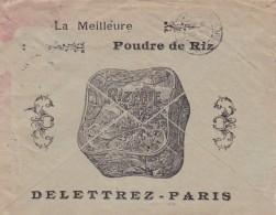 38485enveloppe Illustrée Parfumerie Delettrez Paris-Menton 28-09-1905 Avec Facture Defect - Marcophilie (Lettres)