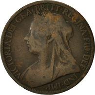 Monnaie, Grande-Bretagne, Victoria, Penny, 1900, B+, Bronze, KM:790 - 1816-1901: 19. Jh.