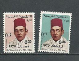 MAROC Scott B17-B18 Yvert 598-599 (2) ** Cote 5,00 $ 1970 - Maroc (1956-...)