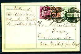 ALLEMAGNE - Ganzsache (Entier Postal) Michel P140 (HOHENSTEIN Nach OBERLUNGWITZ) - Postwaardestukken