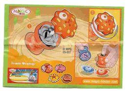 BPZ061 France : Ref : 2S-037série Bugs Action Toupies / Équipe Orange - Toupie Orange - Instructions
