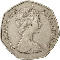Monnaie, Grande-Bretagne, Elizabeth II, 50 New Pence, 1981, TTB, Copper-nickel - 1971-… : Monnaies Décimales