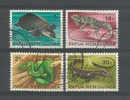 Papua N. Guinea 1972 Reptiles Y.T. 217/220 (0) - Papua New Guinea