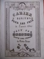 MANUSCRIT CAHIER D ECRITURE DE PRUVOST DE St OMER ÉLÈVE DES FRÈRES DE NOTRE DAME 1840 Dim 53 X 35 - Manuscrits