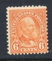 U.S.A. #558 /1922 6¢ /Garfield Series Of 1922-25 / MNH - United States