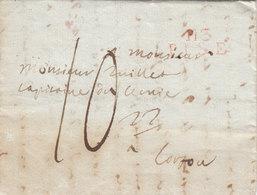 "France Italy Greece 1811 Entire Letter ""113 PISE"" En Rouge To Corfou, British Occupation? (q132) - Marcophilie (Lettres)"