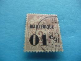 TIMBRE  MARTINIQUE      N  7      COTE  3,25  EUROS   OBLITERE - Usados