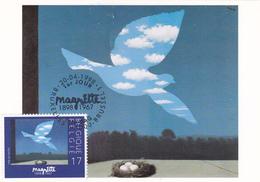 Carte-Maximum BELGIQUE N° Yvert 2755 (MAGRITTE - Le Retour) Obl Sp Ill 1er Jour - 1991-2000