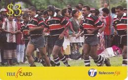 TARJETA DE LAS FIJI DE UNOS JUGADORES DE RUGBY - Fiji