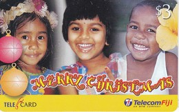 TARJETA DE LAS FIJI DE NAVIDAD (CHRISTMAS) NIÑOS- CHILDREN - Fiji