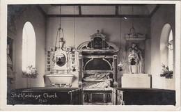 Real Photo Postcard;Strathfieldsaye Church Interior. Basingstoke - England