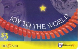 TARJETA DE LAS FIJI DE UN NIÑO JOY TO THE WORLD (CHILDREN) - Fiji
