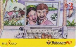 TARJETA DE LAS FIJI DE UNOS NIÑOS E INTERNET (CHILDREN) - Fiji