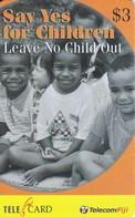 TARJETA DE LAS FIJI DE UNOS NIÑOS - SAY YES FOR CHILDREN - Fiji