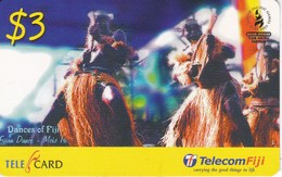 TARJETA DE LAS FIJI DE DANDAS TIPICAS - SOUTH PACIFIC GAMES 2003 - Figi