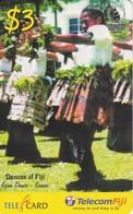 TARJETA DE LAS FIJI DE DANDAS TIPICAS - SOUTH PACIFIC GAMES 2003 - Fiji