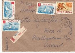 ROMINA 1964 - RECO-Brief Mit Inhalt, 4 Fach Frankiert, Gel.v.Radauti > Wien - Briefe U. Dokumente