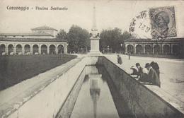 Italy Italia Italie - Caravaggio - Piscina Santuario - Shrine Sanctuaire Religion - Stamp & Postmark 1921 - 2 Scans - Autres Villes