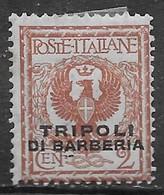 Italia Italy 1915 Estero Tripoli Di Barberia C2 Non Emesso Sa N.12 Nuovo MH * - 11. Uffici Postali All'estero