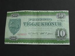 10 Tiggju Kronur - ILES FEROE - Foroyar   **** EN  ACHAT IMMEDIAT  **** - Faroe Islands