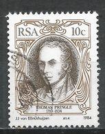 South Africa 1984. Scott #626 (U) Thomas Pringle (1789-1834), English Writer * - Afrique Du Sud (1961-...)