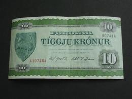 10 Tiggju Kronur - ILES FEROE - Foroyar - Faeroe Islands   **** EN  ACHAT IMMEDIAT  **** - Faroe Islands