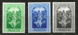 1954 MALTA   Anno Mariano Serie Completa Nuova ** MNH - Malta