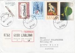 SLOWENIEN - 4 Sondermarken Auf R-Brief - Slowenien