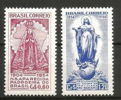 1954 BRASILE   Anno Mariano Serie Completa Nuova ** MNH - Nuovi