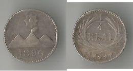 GUATEMALA  1/4  REAL 1896 ARGENT - Guatemala