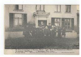 """De Overstroomingen Te Hamme.Maart .-1906 De Herberg """"Drij Goten"""" - Hamme"""