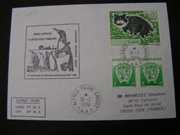 TAAF Cv. Pinguin Und Katze  1994 - Französische Süd- Und Antarktisgebiete (TAAF)