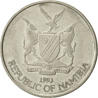 Namibia, 50 Cents, 1993, Vantaa, TTB, Nickel Plated Steel, KM:3 - Namibia