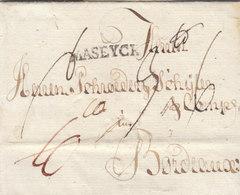 Prussia Thurn & Taxis France 1789 Entire Letter Magdeburg MASEYCK Bordeaux, Schröder Korrespondenz (q138) - Preussen (Prussia)