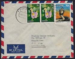 Ca5030 ZAIRE 1989,  Bukavu 1 Cover To England With I.10(I) Cancellation - Zaire