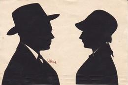 Scherenschnitt Mann Und Frau - Ca. 1930 - 15*10cm (33931) - Chinese Paper Cut