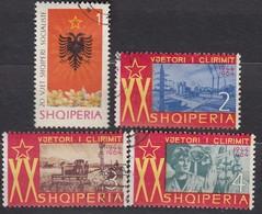 ALBANIEN 1964 - MiNr: 887 - 890  Used - Albanie