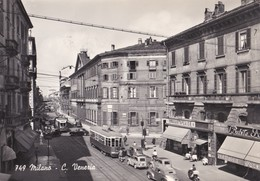 MILANO - CORSO VENEZIA - F/G - V: 1957 - ANIMATA - TRAM - AUTO - Milano (Milan)