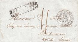 """USA France 1837 Entire Letter New Orleans """"PAYS D'OUTREMER PAR LE HAVRE"""" """"BUREAU MARITIME"""" Mont-de-Marsan Landes (q144) - 1801-1848: Voorlopers XIX"""