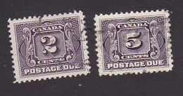 Canada, Scott #J2, J4, Used, Postage Due, Issued 1906 - Postage Due