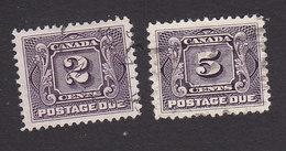 Canada, Scott #J2, J4, Used, Postage Due, Issued 1906 - Impuestos
