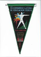 Congrès Latino-américain éducation Physique Madrid Espagne España 1956 Ancienne Fanion Old Pennant Spain - Gymnastique