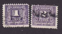 Canada, Scott #J6-J7, Used, Postage Due, Issued 1930 - Postage Due