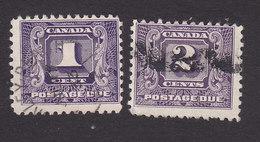 Canada, Scott #J6-J7, Used, Postage Due, Issued 1930 - Impuestos